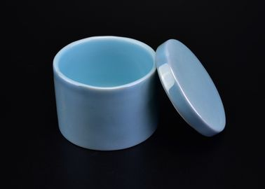 Cute Colorful Ceramic Tealight Holders , Ceramic Candle Jars With Lids