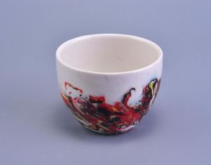 Handmade Votive Ceramic Bowl For Candle Holding , Ceramic Candle Containers